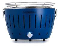 LotusGrill Pequeño Compacto Tief Azul Libre de Humo Carbón Barbacoa de Mesa USB