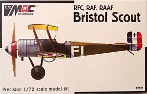Bristol Scout, Rfc, Raf, Raaf, MAC , 1:72, Wk I, Plastic
