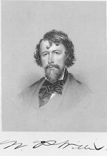 Author Magazine Writer Poet NATHANIEL PARKER WILLIS ~ 1877 Art Print Engraving