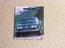 Saab 99 Car Brochure 1971. Printed In Sweden