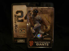 WILLIE MAYS MCFARLANE COOPERSTOWN SERIES 2 GIANTS BASEBALL figure display jersey
