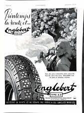 Publicité Pneus Englebert A.D. Loterie National Course grand prix de Paris 1937