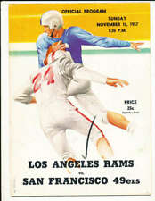 11/10 1957 San Francisco 49ers vs Los Angeles Rams Football Program  bxram