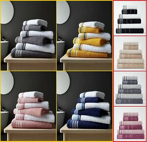 Luxury 2PK DESIGNER 100% Egyptian Cotton Soft 600 Gsm Towel Absorbent Towels Set