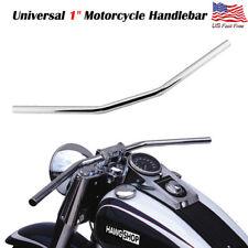 """1"""" Motorcycle Drag Bar Handlebar For Honda Yamaha Kawasaki Suzuki Chopper Bobber"""