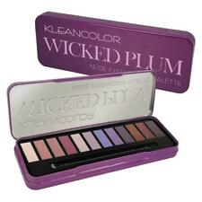 KLEANCOLOR Wicked Plum Nude Eyeshadow Palette 12 Nude Shade Pigmented Colors NEW