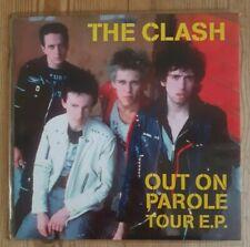 """The Clash """"Out On Parole Tour E.P."""" 7"""" Clear Vinyl PAROLE001 2018"""