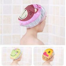 Women Child Shower Cap Waterproof Elastic Bath Hat Cleaning Hat YW