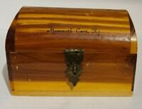 Souvenir Cedar Chest Travel Jewelry Box Mammoth Cave KY Vintage MCM