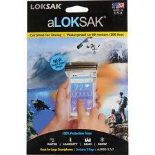 2 Aloksak 3.75x7 Waterproof Airtight Map Pouches LOKSAK ALOKD2-3.75x7
