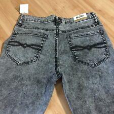 041a0c8b45410 WOMENS MUDD HI-RISE STRETCH BLK ACID WASH JEGGINGS/LEGGINGS/JEANS Size 11