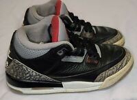 Nike Air Jordan III 3 Retro OG, Cement Black Fire Red 854261-001 Size 4Y