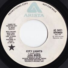 Lou Reed ORIG US Promo 45 City lights VG+ '79 Arista AS0431 Velvet Underground