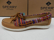 SPERRY TOP SIDER WOMENS BOAT SHOES FIREFISH STRIPE MULTI TAN SIZE 9