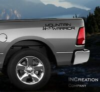 Mountain Warrior x2 Truck Vinyl Side Decals Stickers Travel Hunting F-150
