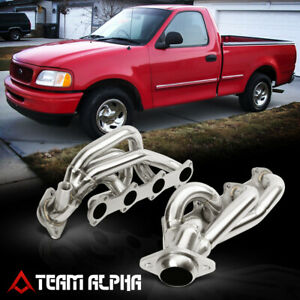 Fits 1997-2004 F150/F250/F350 5.4 {MID-LENGTH} Stainless Exhaust Manifold Header