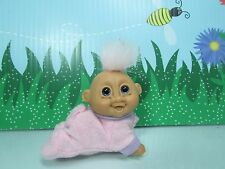 """CRAWLING BABY GIRL - 3"""" Russ Troll Doll - EXCELLENT CLEAN CONDITION"""