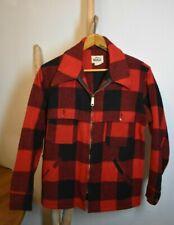 Vintage WOOLRICH Men's Mackinaw Wool Hunting Jacket Red/Black Medium U.S.A.