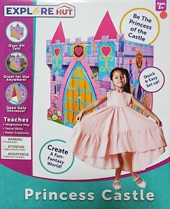 Princess Castle by Explore Hut ~ 4 feet tall ~ Creativity, Fun & Fantasy