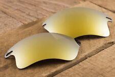 24k Gold Iridium Polarized Mirrored Sunglass Lenses for Oakley Fast Jacket XL