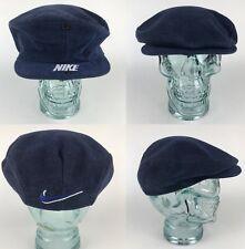 Rare Vtg Nike Fitted Hat Golf Flat Newsboy Cap Mens Large USA Swoosh Spellout