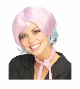 Sassy Purple Lavender Blue Wig Women's Costume Accessory Prop Adult Doll Ladies