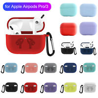 For Apple AirPods Pro Silicone Protective Earphone Cover Wireless Charging Case