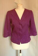 Pretty purple summer jacket, possibly Per Una, size 10, appliqué flowers, cool.