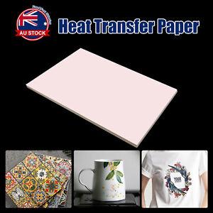 100 Sheets A4 Dye Sublimation Paper Desktop Inkjet Printer Heat Transfer O