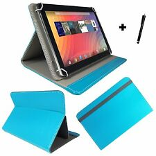 10.1 inch Case Cover Book For Fusion5 104 GPS Tablet - Turquoise 10.1""