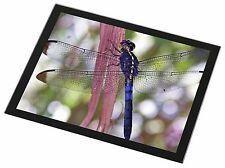 Dragonflies Print Black Rim Glass Placemat Animal Table Gift, IDR-3GP