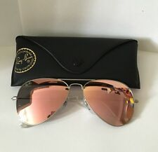 RAY BAN AVIATOR FLASH LENSRB3025 019/Z2 58/14-140 Silver/Copper Flash Mirrored!