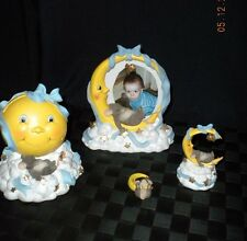 "Lot/3 Fitz & Floyd Charming Tails Figurines ""Moon & Stars"""