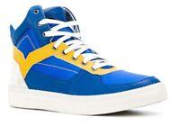 DIESEL CHUN LI STREET FIGHTER Sneakers, Turkish Sea/Golden Rod UK 7.5/8/9/11
