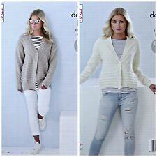 KNITTING PATTERN Ladies Textured Cardigan & Jacket Cotton Top DK King Cole 5373