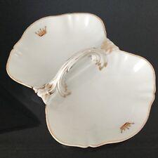 Plat en Porcelaine de Paris Barotte Couronne Vicomte XIXè Porcelain Dish 19thC