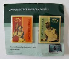 American Express 2007 Tennis Us Open Pins Venus Williams James Blake Noc