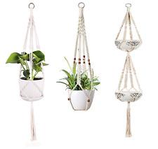 More details for macrame plant hangers indoor outdoor hanging planter basket rope pot holder