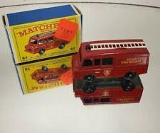 Matchbox Lesney #57 Land Rover Fire Truck w/ Original box kent fire brigade