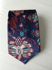 London FOG navy Floral And Bird Print Tie