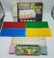 MILTON BRADLEY 1968 VINTAGE ORIGINAL CROSS UP POKER GAME COMPLETE WITH BOX 4945