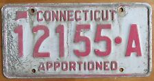 Connecticut 1990 APPORTIONED License Plate # 12155-A