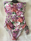 NEW Isola Megan Gale Ruched Bandeau Maillot One Piece Lilac Size 14 rrp $189.95