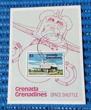 1978 Grenada Grenadines Space Shuttle Commemorative Stamp Miniature Sheet CTO