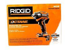 RIDGID R86039B OCTANE 18V 1/4in Brushless 6-Mode Impact Drive (tool only) New