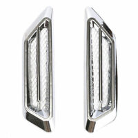 2x Plating Chrome Car SUV Simulation Air Flow Fender Side Vent Decor Sticker