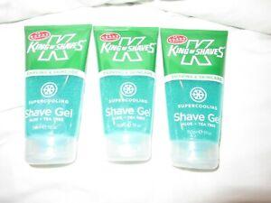 3 x King of Shaves Supercooling Shaving Gel for Men 3X 150 ml New