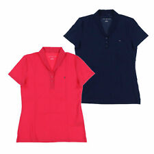 Tommy Hilfiger Womens Polo Shirt Short Sleeve Mesh Collared Top Casual Blouse