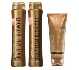 Brazilian Blowout Shampoo, Conditioner, Smoothing Serum NEW