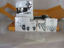 SCANIA TOPLINE 1/32 SCALE DECALS STICKERS SILVER BLACK  WELLY MARGE  SIK CODE 3